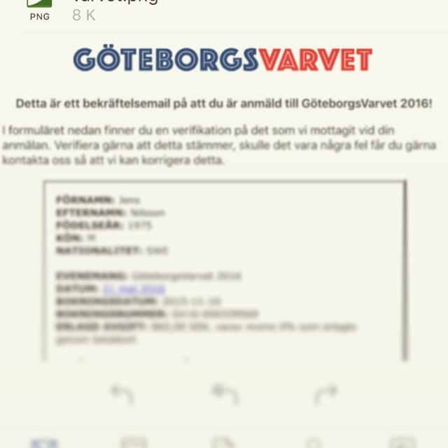 Anmälning till Göteborgsvarvet 2016