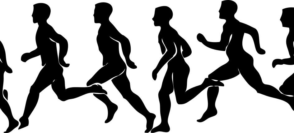 Klartecken för att springa
