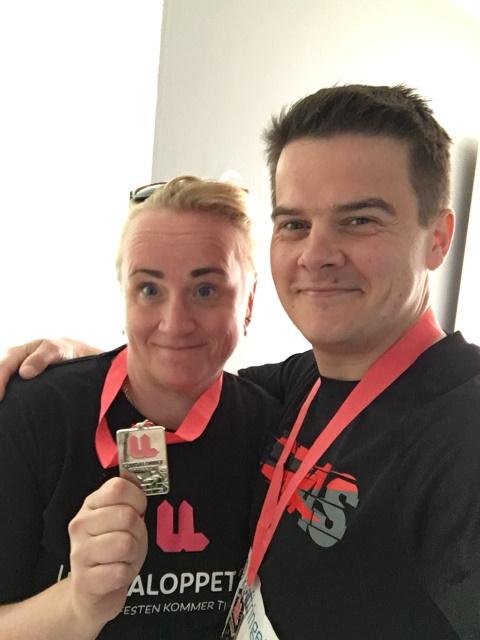 Lundaloppet 2016 och två nöjda löpare