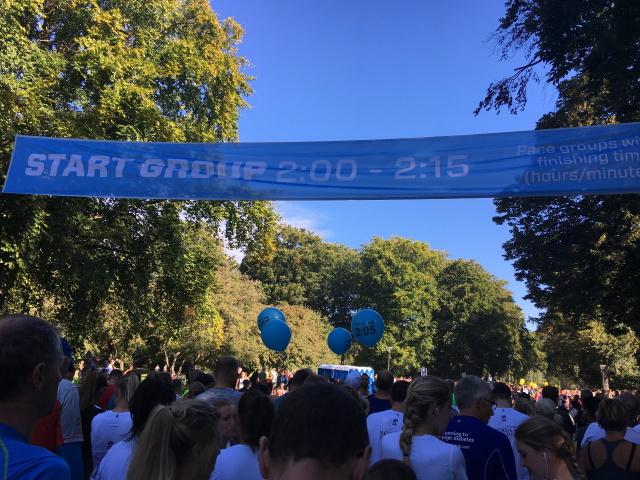 Start grupp 2:00-2:15 på Copenhagen Half Marathon 2016