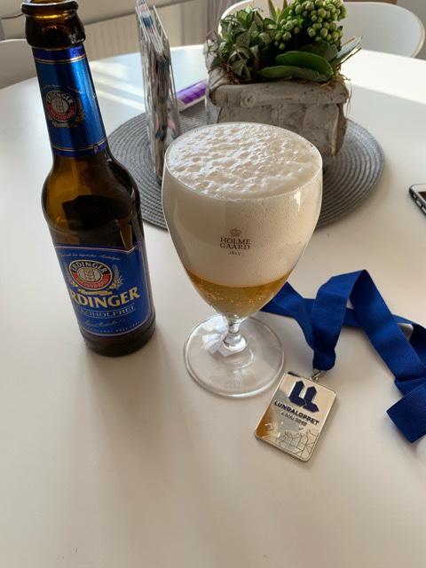 Erdinger alkoholfri som Personbästa ölen Pers bärs